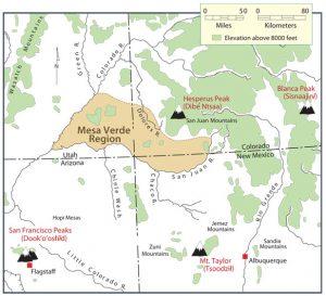 ナバホ族の聖なる山