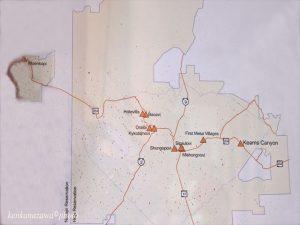 ホピ族地図